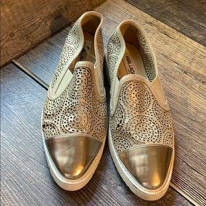 Karl Lagerfeld Paris metallic slip on sneakers